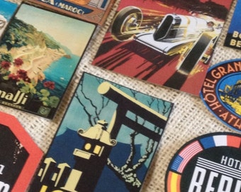 Vintage Travel Poster Luggage Label Stickers