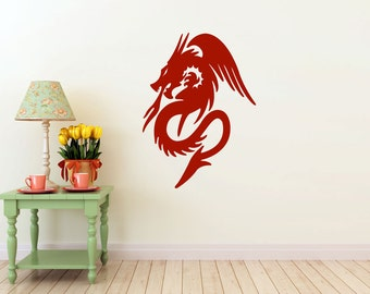 Dragon vinyl Wall DECAL-  interior design, sticker art, room, home and business decor