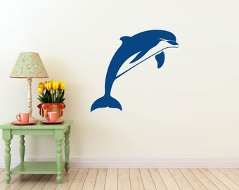Dolphin Wall vinyl DECAL- fish ocean sea Animal interior design, sticker art, room, home and business decor