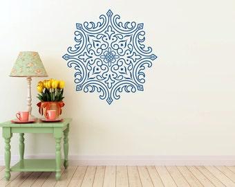 Elegant Mandala vinyl Wall DECAL- Sacred geometry, stars, sticker art, home decor
