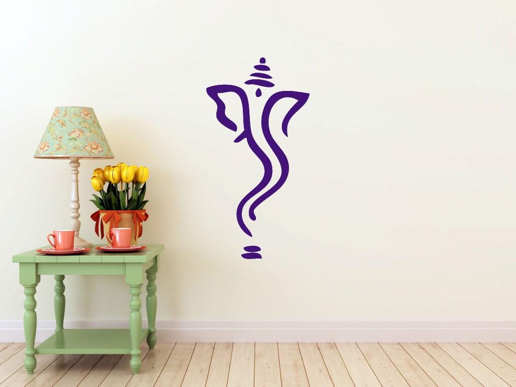 Abstract Ganesh vinyl Wall DECAL Hindi Hindu India interior