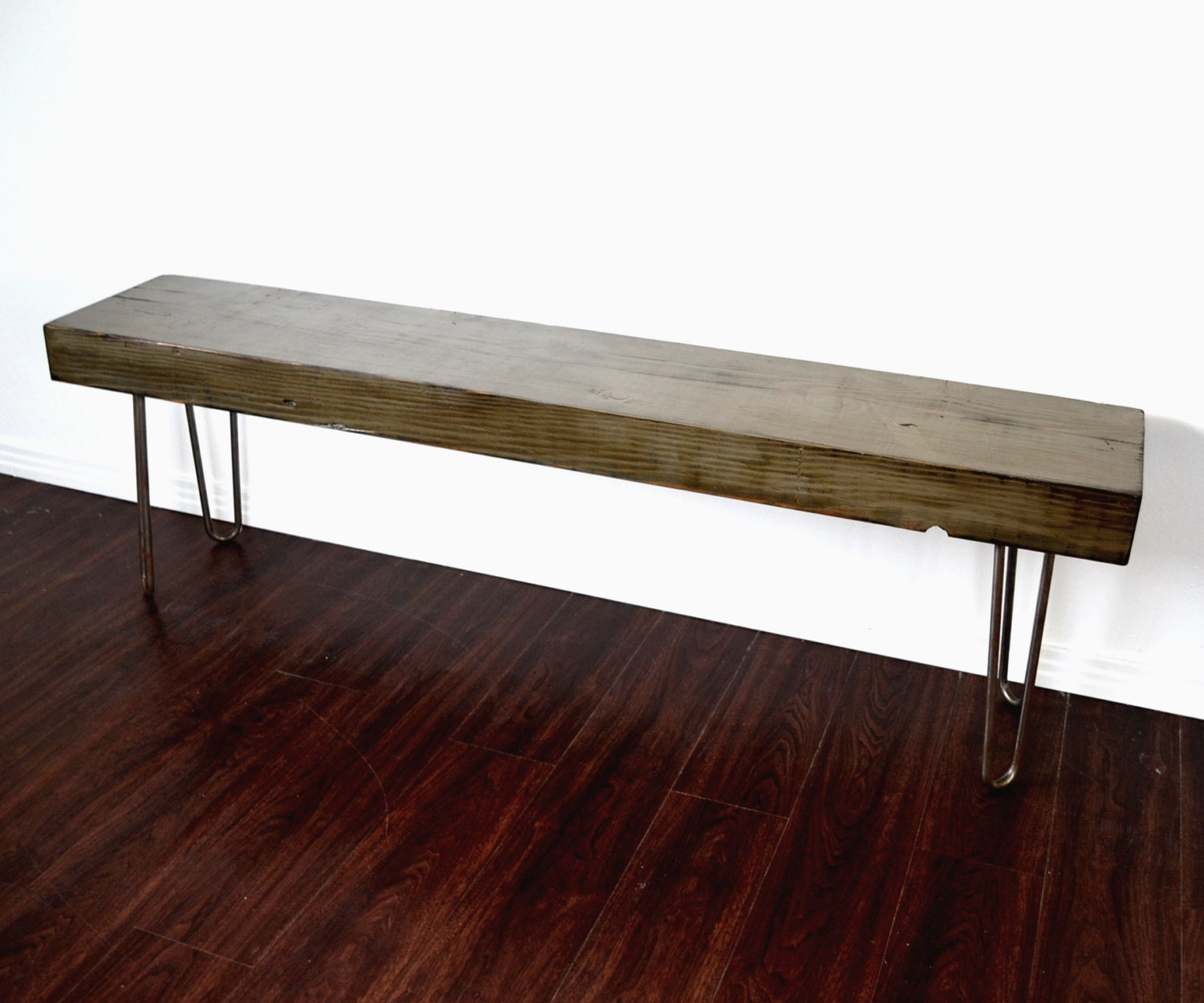 Reserved For Rosemary Reclaimed Wood Bench Console Industrial