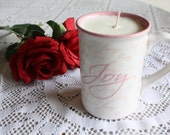 Soy Wax Candle in a Inspirational Coffee Mug Vanilla-Scented