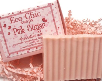 Pink Sugar Soap - Shea Butter Soap - Vegan