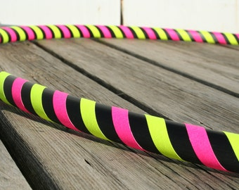 "Light weight Collapsible hula hoop ""The 3 taped Basic"" Adult Advanced / Children's - CUSTOM COLORS, tape, and diameter"