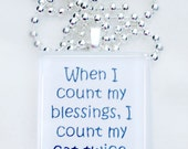 When I count my blessing, I count my cat twice glass pendant      Available in dogs as well - RileysStar