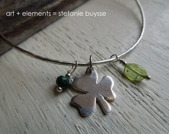 """ARTisan Made """"Lucky"""" Bangle - Sterling Silver - OOAK"""