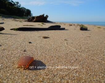 Lake Michigan Beach Glass - Matted Photo