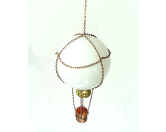 Hot Air Balloon Made From Recycled Light Bulb And Copper