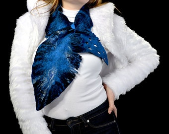 sale! merino wool wet felted double-sided Unique Hand Made Art scarf by Olesya