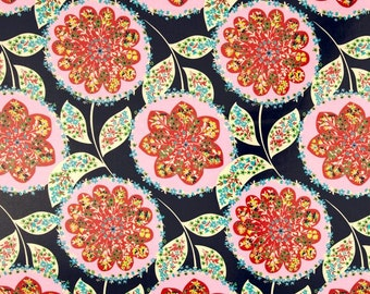 1/2 yard LAMINATED cotton fabric - 18 x 40 - Lark Charisma Amy Butler - BPA free - Approved for children's products