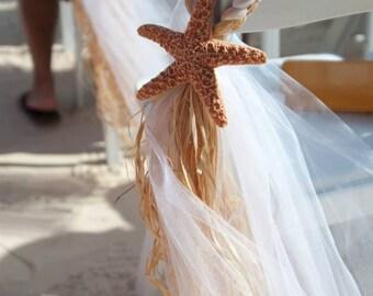 Beach Wedding, Beach Chair Hanger, OVER 20 COLORS AVAILABLE, Aisle Decor, Destination Wedding, Beach Pew Bow, Destination Wedding, Pew Bow