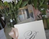 Wedding Programs, Antique, Vintage, Elegant, Classic, monogram, Booklet Program, Ceremony CHOOSE RIBBON