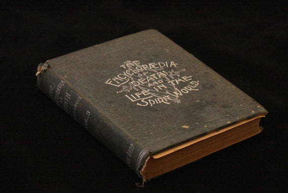 Rare Antique Occult Book Encyclopedia Of Death And Life In The