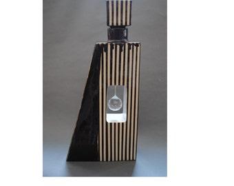 Cremation Urn, Worry jar, Funeral Urn Vessel with Swarovski crystal Handmade
