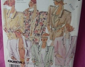 McCalls 3134 Jacket Blazer Pattern Quick and Easy size 8 to 12 Vintage 1987