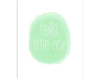 Hello Little One Print - Mint