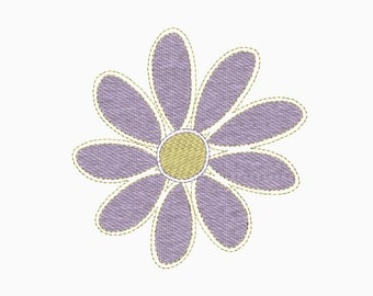 Stitched flower embroidery design.  Comes in multiple sizes.  INSTANT DOWNLOAD