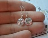 Tiny Drop Sparkle Earrings | Cubic Zirconia CZ Earrings | Sterling Silver | Bridal Jewelry | Wedding Earrings | Bridesmaids Gifts