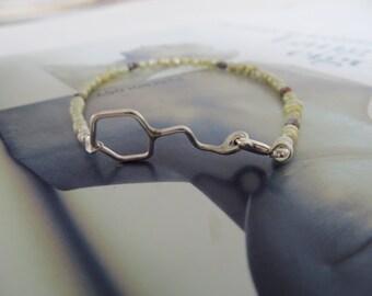 White wine molecule bracelet bangle silver pearls-Let's toast-Friendship Molecule bracelet-Silver molecule Summer jewelry-geometric sceince