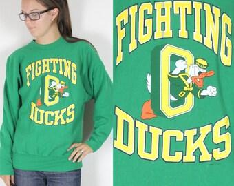 Vintage Retro RARE Oregon Fighting Ducks Sweatshirt