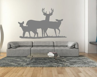 Deer Wall Decal - Deer Style E Wall Decal - Animal Wall Decals - Hunting Decor - Animal Decor 22330