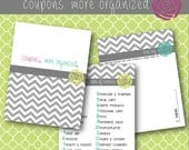 Coupon Binder 25 Divider Categories Digital File