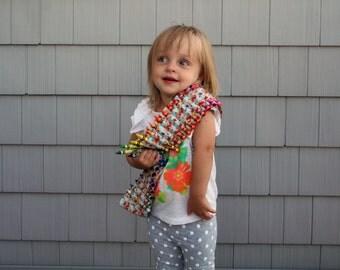 Kids Crayon Bandolier - Blue Floral