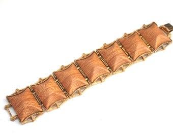 Vintage Chunky Wood Panel Bracelet