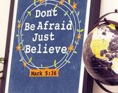 Just Believe - Believe Wall Art - Scripture Art - Scripture Print - Scripture Print Bible Verse - Christian Gift - Christian Art Bible Verse
