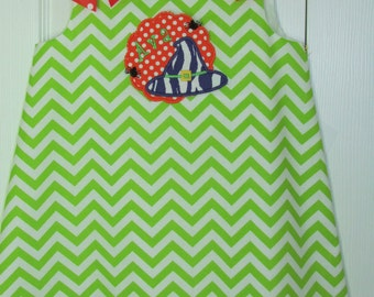 Chevron A-line Dress Applique Halloween Witch Hat Personalized Free