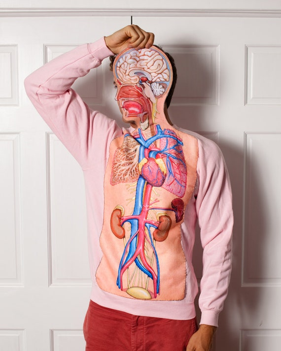 Weird but awesome anatomy sweatshirt by Great White Vintage on Etsy
