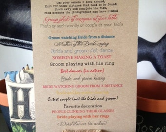 I SPY GAME - Wedding, Shower, Bachlorette Party: design and printing