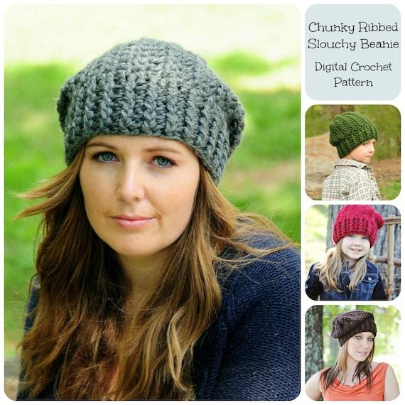 Chunky Slouchy Crochet Hat Pattern Traitoro For