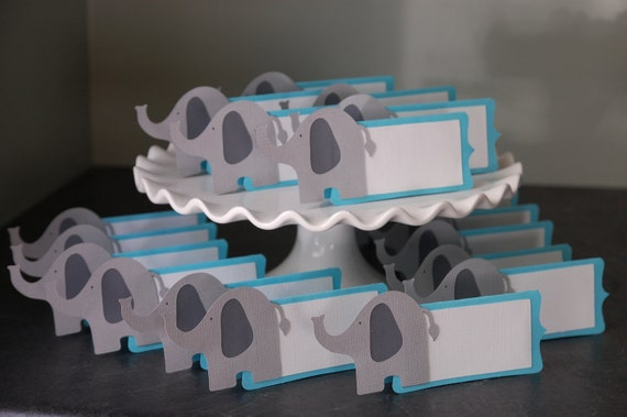 Elephant Place Cards, Elephant Food Labels, Elephant Seating Cards ...