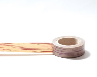Washi Tape Wood Grain Wooden Log Brown Print Stripes Japanese Rice Paper Tape