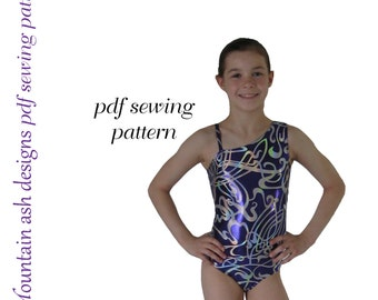 Leotards 3 Sewing pattern gymnastics leotard, ballet jazz dance gym pdf