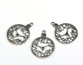3 Steampunk Pocketwatch Clock Charms are 1 inch in diameter and make the perfect pendant or accent for your craft projects