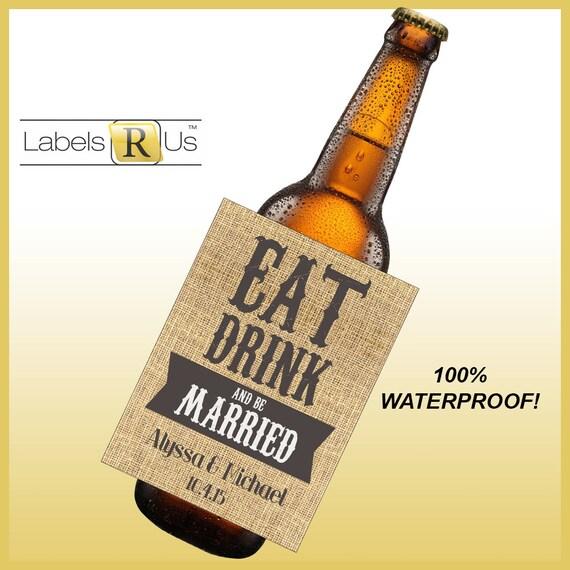 Custom Beer Bottle Labels Personalized Wedding By: Items Similar To Wedding Beer Bottle Labels