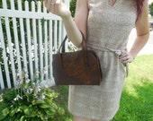 1960s Large Brown Handbag- Jaclyn USA