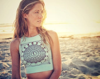 MOON Lillith Mandala Fitted Crop Tank