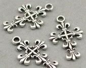 Cross Charms Antique Silver 6pcs base metal beads 14X22mm CM0443S