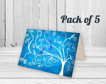 5 Pack of Greeting Cards - Choice of Designs - Birthday Card, Wedding Card, New Home Card, Art Card, Collectible A5 Card