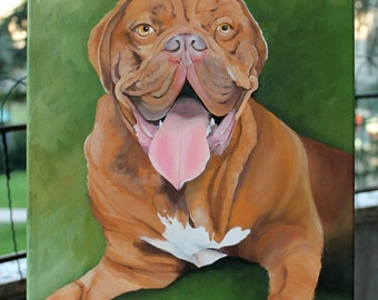 Dog portrait painted on a 10x14 canvas from your photo, dog cat painting, pet portrait