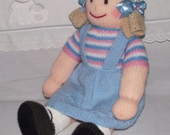 Hand knitted soft rag doll 22 inch tall
