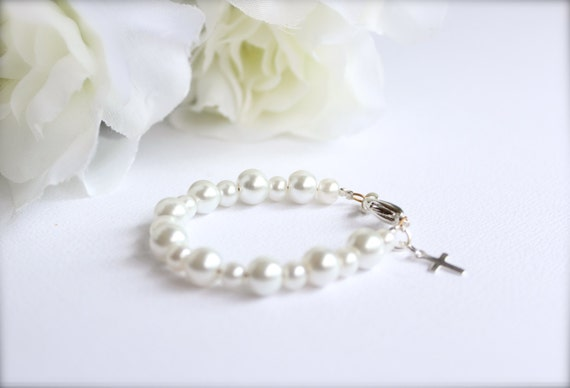 House Cleaning Invoice Template Word Sterling Silver Cross Baptism Gift Baby Keepsake Bracelet Sage Compatible Invoices Excel with Donation Tax Receipt Word Sterling Silver Cross Baptism Gift Baby Keepsake Bracelet Christening  Communion Gift White Pearl Baby Bracelet  Free Gift Packaging Pro Invoice Excel
