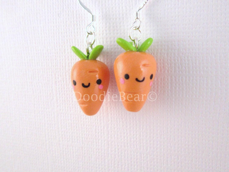 Carrots Kawaii Cute Polymer Clay Charm
