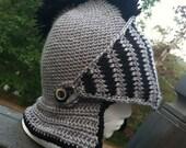 "MADE TO ORDER: ""Sir Balaclava"", Crochet Knight's Helmet"