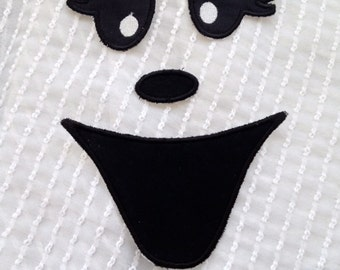 Ghost Face Iron on  Appliqué Patch