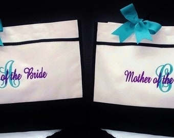 Personalized Bride MOB MOG Flower Girl Wedding Totes